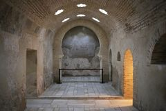 Arab baths of Jaen Andalusia Spain. The Arab baths of the city of Jaén in Andalusia, southern Spain. It is one of the best tourist places to see and visit on Stock Photography