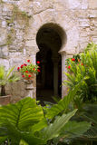 Arab baths in Majorca old city stock images