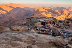 Arab Bedouin Shops on the Holy Mount Sinai, Egypt Royalty Free Stock Images