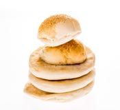 Arab bread and hamburger isolated on white background Stock Photo