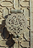 Arab bronze knocker, old Mosque of Cordoba, Spain Stock Photography