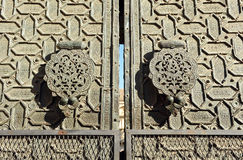 Arab bronze knocker, old Mosque of Cordoba, Spain Royalty Free Stock Images
