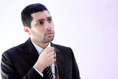 Arab business man praying for help Stock Image