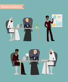 Arab Business People Meeting Stock Image