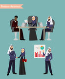 Arab Business People Meeting Stock Photo