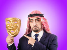 Arab businessman against the gradient Stock Photo
