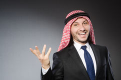 Arab businessman againt Royalty Free Stock Image