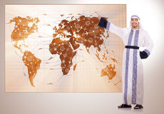 The arab businessman in air travel concept Royalty Free Stock Image