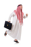 Arab businessman  with briefcase Stock Photography