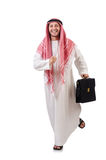 Arab businessman  with briefcase Royalty Free Stock Images