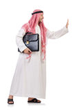 Arab businessman  with briefcase Royalty Free Stock Photography