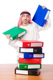 Arab businessman in business concept Stock Images