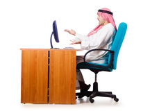 Arab businessman in business concept Royalty Free Stock Photo