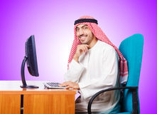 Arab businessman in business concept on white Royalty Free Stock Photo