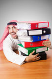 Arab businessman in business concept on white Royalty Free Stock Image