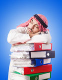 Arab businessman in business concept on white Royalty Free Stock Photography