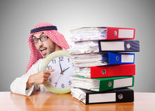 Arab businessman in business concept on white Stock Images
