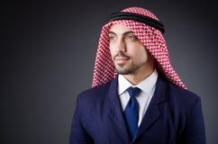 Arab businessman. In dark studio Stock Images