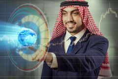 The arab businessman in global business concept. Arab businessman in global business concept Stock Images