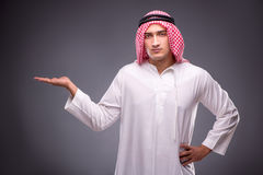The arab businessman on gray background Stock Photo