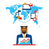Arab businessman and international cooperation. Royalty Free Stock Photography