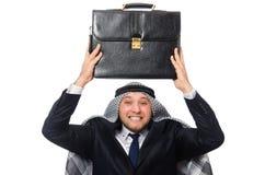 Arab businessman isolated on white Stock Image