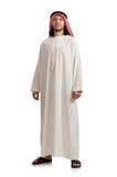 Arab businessman isolated on white Stock Images