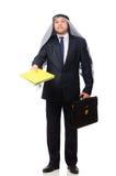 Arab businessman isolated on white Royalty Free Stock Photos