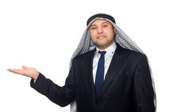 The arab businessman isolated on white Royalty Free Stock Photography