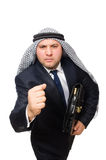 The arab businessman isolated on white Stock Images