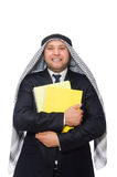 The arab businessman isolated on white Stock Photography