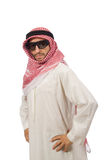 The arab businessman isolated on white Royalty Free Stock Images