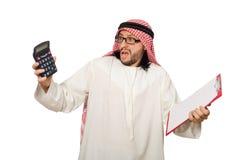 Arab businessman isolated on white Stock Photography
