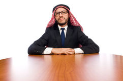 Arab businessman isolated on white Royalty Free Stock Photography