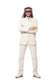 The arab businessman isolated on white Stock Image
