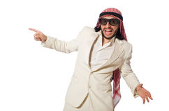 The arab businessman isolated on white Stock Photos