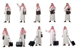 The arab businessman isolated on white Stock Photo