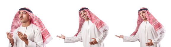 The arab businessman isolated on white Royalty Free Stock Image