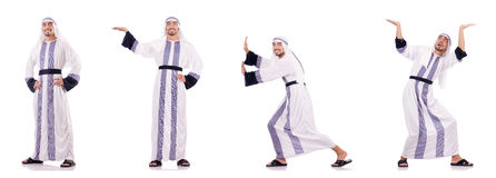 The arab businessman isolated on the white Stock Image