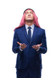 The arab businessman isolated on the white background Stock Photography