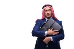 The arab businessman isolated on the white background Stock Photos