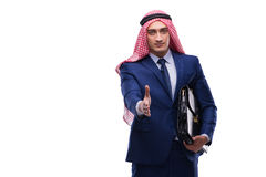 The arab businessman isolated on the white background Royalty Free Stock Photo