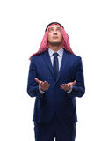 The arab businessman isolated on the white background Stock Images