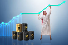 The arab businessman in oil price business concept Royalty Free Stock Image