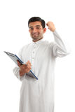 Arab businessman victory success Royalty Free Stock Photo