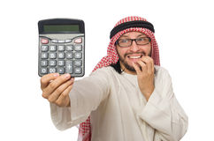 The arab businessman on white Royalty Free Stock Photo