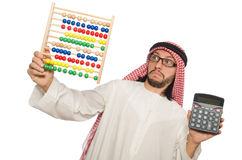 The arab businessman on white Stock Photography