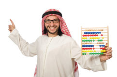 The arab businessman on white Royalty Free Stock Images