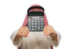 The arab businessman on white Royalty Free Stock Photos