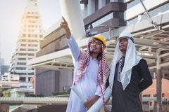 Arab businessmen worker on construction site Royalty Free Stock Photography